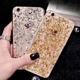 Luxury Foil Bling Glitter Soft Silicone Phone Case Back Cover - iPhone 11 Pro Max/11 Pro/11/XS Max/XR/XS/X/8 Plus/8/7 Plus/7/6s Plus/6s/6 Plus/6 - halloladies