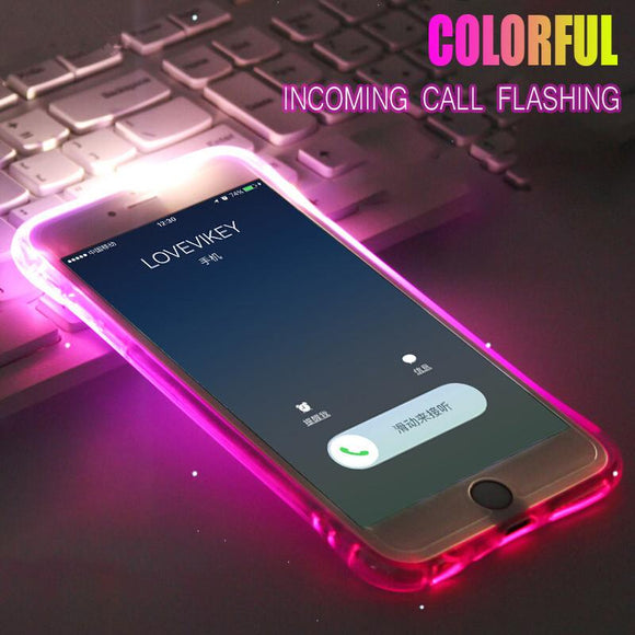 LED Flash Light Up Remind Incoming Call Phone Case Back Cover - iPhone XS Max/XR/XS/X/8 Plus/8/7 Plus/7/6s Plus/6s/6 Plus/6 - halloladies