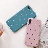Cartoon Love Heart Couple Phone Case Back Cover for iPhone XS Max/XR/XS/X/8 Plus/8/7 Plus/7/6s Plus/6s/6 Plus/6 - halloladies