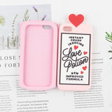 Chill Pills Love Polion Soft Silicone Phone Case Back Cover - iPhone 12/12 pro/12pro max/12mini/11/11pro/11pro max/XS Max/XR/XS/X/8 Plus/8/7 Plus/7/6s Plus/6s/6 Plus/6 - halloladies