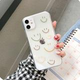 Lucky Smile Face Transparent Soft Phone Case Back Cover for iPhone 12 Pro Max/12 Pro/12/12 Mini/SE/11 Pro Max/11 Pro/11/XS Max/XR/XS/X/8 Plus/8 - halloladies