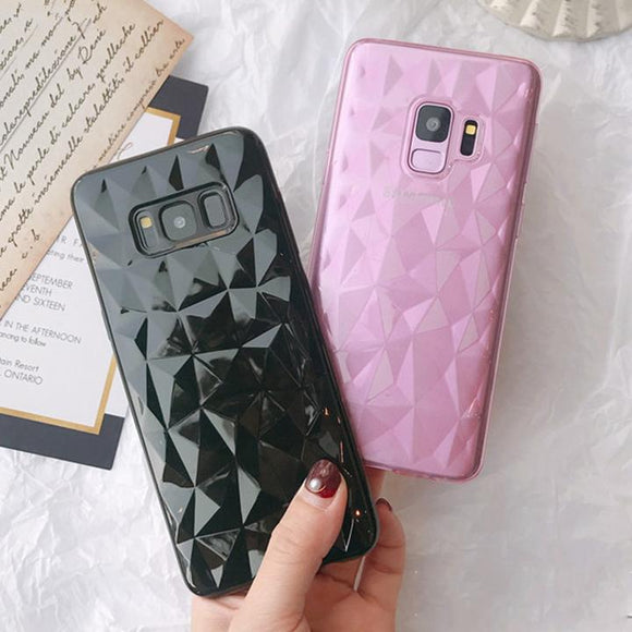 Fashion Shining Diamond Pattern Ultra Thin Soft TPU Full Shell Phone Case Back Cover for Samsung Galaxy S9 Plus/S9/S8 Plus/S8/S7 Edge/S7 - halloladies
