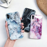 Luxury Color Marble Silicone Phone Case Back Cover for iPhone XS Max/XR/XS/X/8 Plus/8/7 Plus/7/6s Plus/6s/6 Plus/6 - halloladies