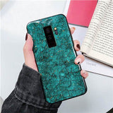 Luxury Gold Sequins Marble Foil Glitter Silicone Phone Case Back Cover for Samsung Galaxy S10E/S10 Plus/S10/S9 Plus/S9/S8 Plus/S8/Note 8/Note 9 - halloladies
