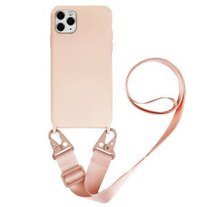 Necklace Lanyard Candy Color Phone Case Back Cover - iPhone 11 Pro Max/11 Pro/11/XS Max/XR/XS/X/8 Plus/8/7 Plus/7 - halloladies