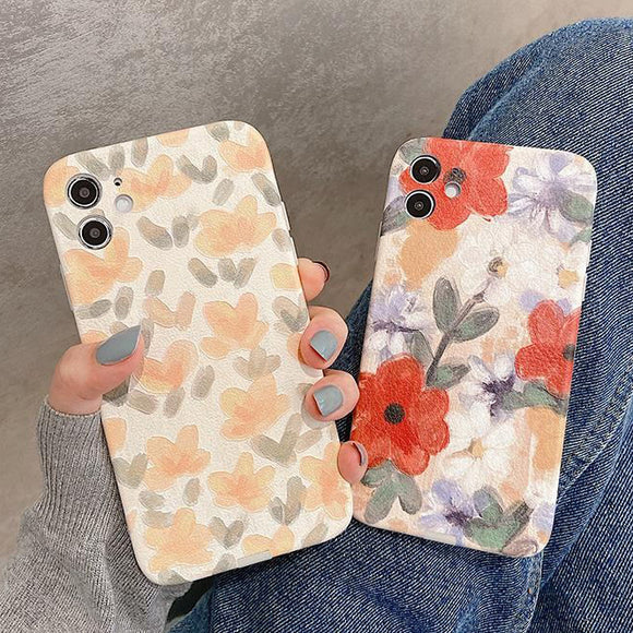 Oil Painting Flower Soft Phone Case Back Cover for iPhone 12 Pro Max/12 Pro/12/12 Mini/SE/11 Pro Max/11 Pro/11/XS Max/XR/XS/X/8 Plus/8