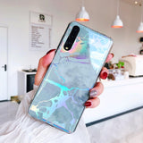 Plating Laser Marble Soft TPU Phone Case Back Cover - Huawei P20 Pro/P20 Lite/P 20 - halloladies