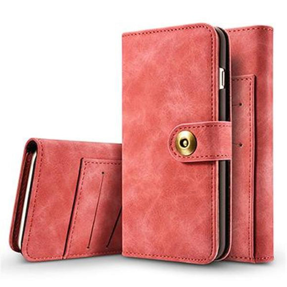 Leather Flip Wallet Multifunction Magnetic Phone Case Back Cover - iPhone XS Max/XR/XS/X/8 Plus/8/7 Plus/7/6s Plus/6s/6 Plus/6 - halloladies
