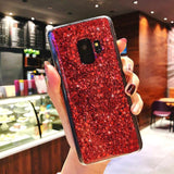 Glitter Bling Foil Soft TPU Phone Case Back Cover - Samsung Galaxy S10E/S10 Plus/S10/S9 Plus/S9/S8 Plus/S8/Note9/Note8 - halloladies