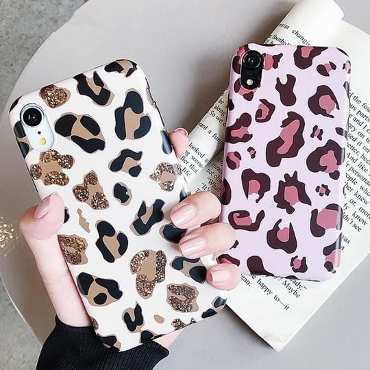 Fashion Leopard Print Silicone Phone Case Back Cover for iPhone 11 Pro Max/11 Pro/11/XS Max/XR/XS/X/8 Plus/8/7 Plus/7/6s Plus/6s/6 Plus/6 - halloladies