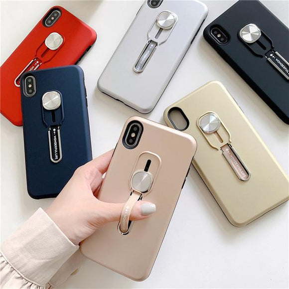 Luxury Magnetic Finger Ring Car Holder Stand Phone Case Back Cover - iPhone 11 Pro Max/11 Pro/11/XS Max/XR/XS/X/8 Plus/8/7 Plus/7 - halloladies