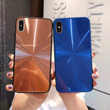 Candy Color Laser Shining Mirror CD Pattern Phone Case Back Cover for iPhone XS Max/XR/XS/X/8 Plus/8/7 Plus/7/6s Plus/6s/6 Plus/6 - halloladies
