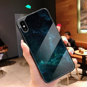 Fantasy Starry Sky Tempered Glass Phone Case Back Cover - iPhone XS Max/XR/XS/X/8 Plus/8/7 Plus/7/6s Plus/6s/6 Plus/6 - halloladies
