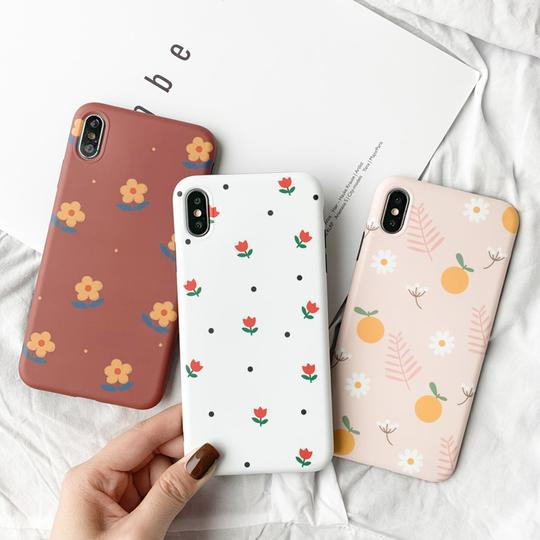 Ultra Thin Flower Soft TPU Phone Case Back Cover for iPhone XS Max/XR/XS/X/8 Plus/8/7 Plus/7/6s Plus/6s/6 Plus/6 - halloladies