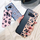 Fashion Leopard Soft TPU Phone Case Back Cover for Samsung Galaxy S10 Plus/S10/S9 Plus/S9/S8 Plus/S8/S7 Edge/S7/Note9/Note8 - halloladies