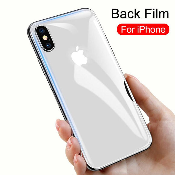 Back Tempered Glass Screen Protector - iPhone XS Max/XR/XS/X/8 Plus/8/7 Plus/7/6s Plus/6s/6 Plus/6 - halloladies