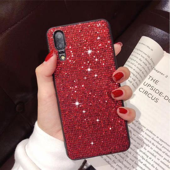 Glitter Diamond Silicone Phone Case Back Cover for Huawei P30/P20/Mate 20 Pro/Lite - halloladies