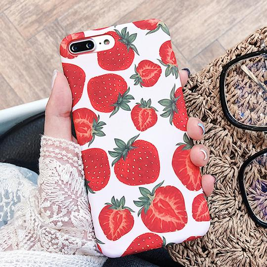 Cute Summer Fruit Strawberry Soft Phone Case Back Cover for iPhone XS Max/XR/XS/X/8 Plus/8/7 Plus/7/6s Plus/6s/6 Plus/6 - halloladies