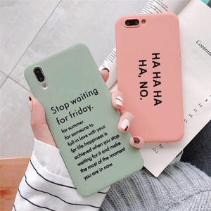Funny Letters Candy TPU Phone Case Back Cover - Huawei P30/P20/Mate 20 Pro/Lite - halloladies