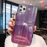 Glitter Powder Laser Tempered Phone Case Back Cover - iPhone 11 Pro Max/11 Pro/11/XS Max/XR/XS/X/8 Plus/8/7 Plus/7 - halloladies