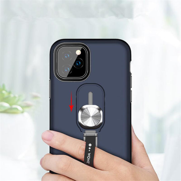 Magnetic Ring Kickstand Phone Case Back Cover for iPhone 11/11 Pro/11 Pro Max/XS Max/XR/XS/X/8 Plus/8/7 Plus/7 - halloladies