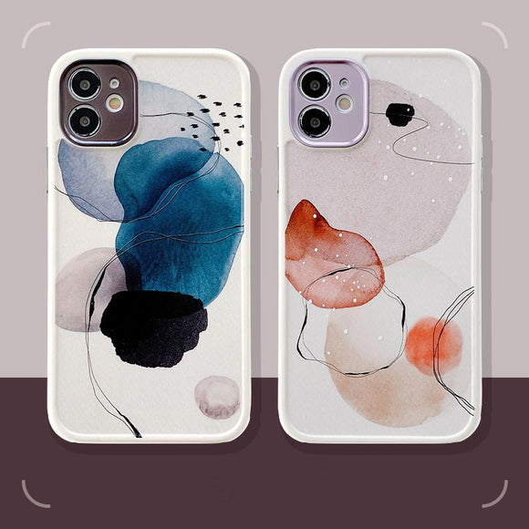 Graffiti Watercolor Painting Soft Phone Case Back Cover for iPhone 12 Pro Max/12 Pro/12/12 Mini/11 Pro Max/11 Pro/11/XS Max/XR/XS/X/8 Plus/8/7 Plus/7 - halloladies