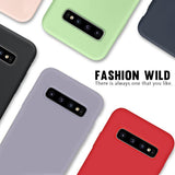 Liquid Silicone Rubber Candy Color Phone Case Back Cover for Samsung A80/A70 - halloladies