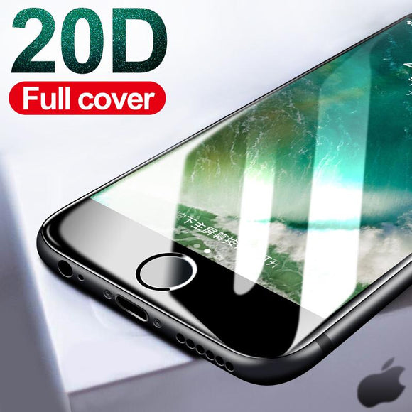 20D Curved Edge Tempered Glass Screen Protector - iPhone XS Max/XR/XS/X/8 Plus/8/7 Plus/7/6s Plus/6s/6 Plus/6 - halloladies