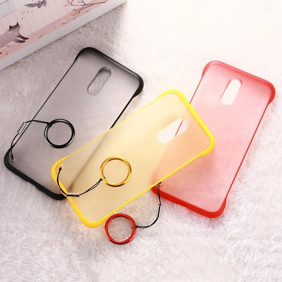 Soft Silicon Frameless Ultra Thin With Finger Ring Phone Case Back Cover for OnePlus 7 Pro/7/6T/6 - halloladies