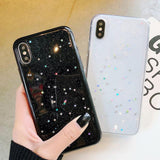 Shiny Powder Little Colorful Star Soft iPhone Case Back Cover for iPhone 11 Pro Max/11 Pro/11/XS Max/XR/XS/X/8 Plus/8/7 Plus/7 - halloladies