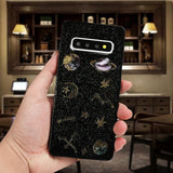 Glitter Planet Star Transparent TPU Phone Case Back Cover for Samsung Galaxy S20 Ultra/S20 Plus/S20/S10E/S10 Plus/S10/S9 Plus/S9/S8 Plus/S8/Note9/Note8 - halloladies