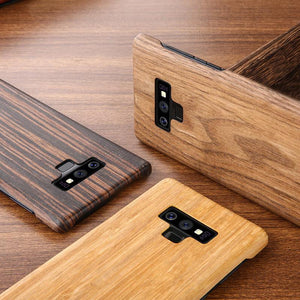Walnut Enony Wood Rosewood Mahogany Phone Case Back Cover - Samsung Galaxy S10E/S10 Plus/S10/S9 Plus/S9/S8 Plus/S8/Note 8/Note 9 - halloladies