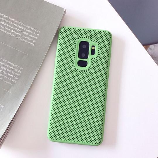 Candy Color Hollow Out Breathable Phone Case Back Cover for Samsung Galaxy S10E/S10 Plus/S10/S9 Plus/S9/S8 Plus/S8/Note 9/Note 8 - halloladies