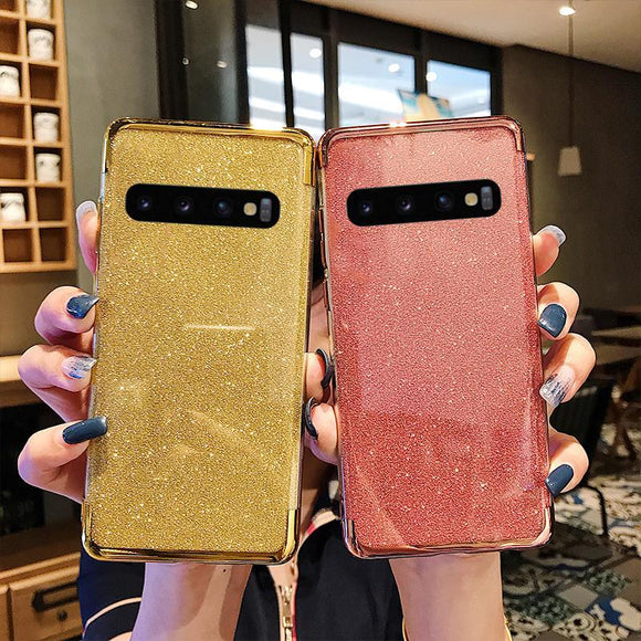 Bling Glitter Soft TPU Phone Case Back Cover - Samsung A80/A70 - halloladies