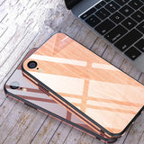 Creative Wooden Pattern Tempered Glass Phone Case Back Cover - iPhone XS Max/XR/XS/X/8 Plus/8/7 Plus/7/6s Plus/6s/6 Plus/6 - halloladies