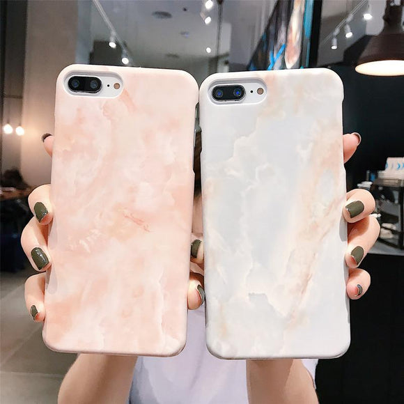 Marble Patterned Graffiti Hard Phone Case Back Cover - iPhone 12 Pro Max/12 Pro/12/12 Mini/SE/11 Pro Max/11 Pro/11/XS Max/XR/XS/X/8 Plus/8 - halloladies