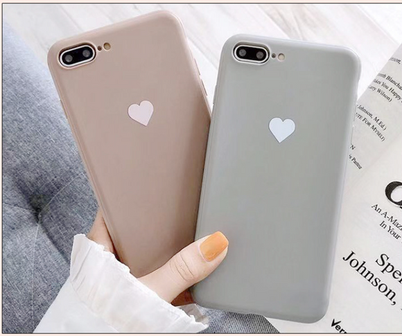 Simple Solid Color Hollow Gold Love Heart Soft Phone Case Back Cover - Samsung Galaxy S10E/S10 Plus/S10/S9 Plus/S9/S8 Plus/S8/Note 10 Pro/Note 10/Note 9/Note 8 - halloladies