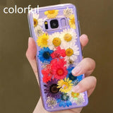 Dried Real Flower Handmade Clear Pressed Soft TPU Phone Case Back Cover - Samsung Galaxy S20 Ultra/S20 Plus/S20/S10E/S10 Plus/S10/S9 Plus/S9/S8 Plus/S8/Note9/Note8 - halloladies