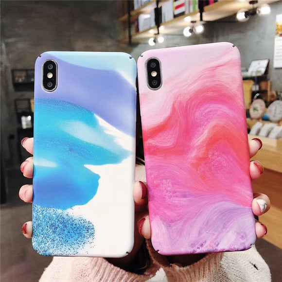 Vintage Oil Painting Hard Phone Case Back Cover - Samsung Galaxy S10E/S10 Plus/S10/S9 Plus/S9/S8 Plus/S8/Note9/Note8 - halloladies
