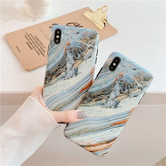 Gray Marble Pattern Phone Case Back Cover for iPhone XS Max/XR/XS/X/8 Plus/8/7 Plus/7/6s Plus/6s/6 Plus/6 - halloladies