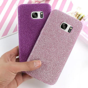 Bling Glitter Soft Silicone TPU Phone Case Back Cover for Samsung Galaxy S9 Plus/S9/S8 Plus/S8/S7 Edge/S7/S6 Edge/S6 - halloladies