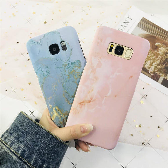 Granite Stone Marble Texture Phone Case Back Cover for Samsung Galaxy S10E/S10 Plus/S10/S9 Plus/S9/S8 Plus/S8 - halloladies