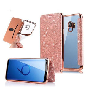 Luxury Slim Book Leather+TPU Wallet Flip Phone Case Back Cover for Samsung Galaxy S9 Plus/S9/S8 Plus/S8/S7 Edge/S7/S6 Edge/S6 - halloladies