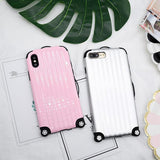 Cute Suitcase Shape Phone Case Back Cover - iPhone XS Max/XR/XS/X/8 Plus/8/7 Plus/7/6s Plus/6s/6 Plus/6 - halloladies