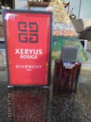vintage XERYUS ROUGE by Givenchy  for Men 4 ML .13 OZ  EDT MINIATURE NEW IN BOX