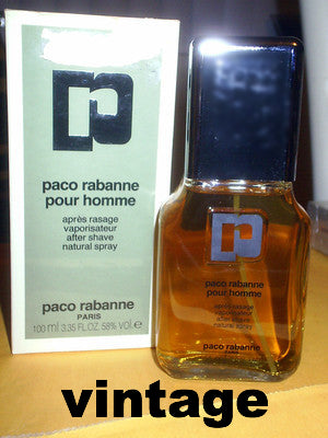 vintage Paco Rabanne pour homme after shave spray