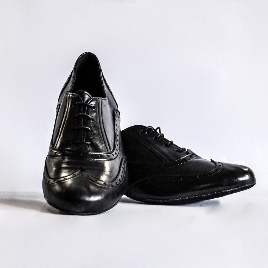 Black dance shoes for men (model 492 PELLE NERO)