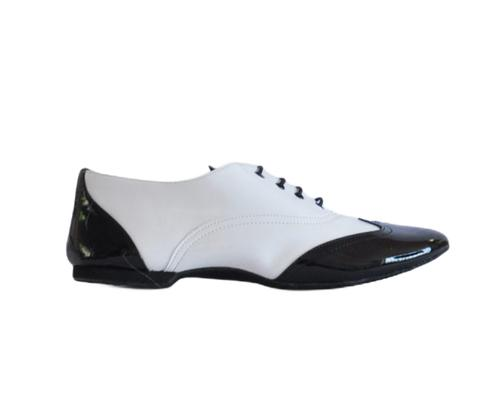 Black/white dance shoes for men (model 550 MAMBO)