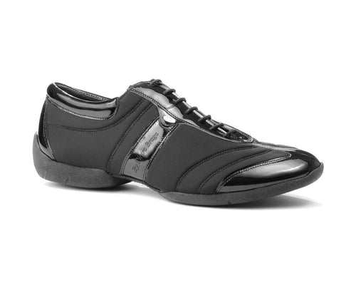 PD Pietro Braga Black Patend and Neoprene mit Sneaker Sohle