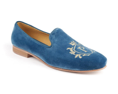 PDM001 MOCASSINS Blue Velvet